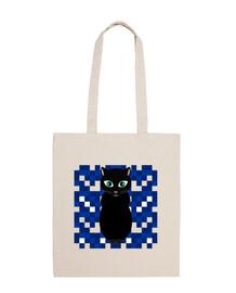 Gato negro noche bolsa