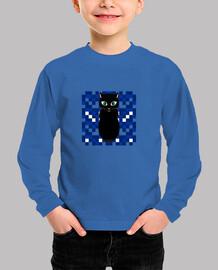 Gato negro noche manga larga niño