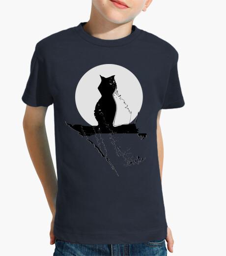 Ropa infantil Gato Niño, manga corta, gato luna