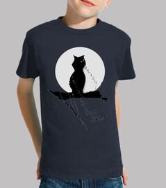 Gato Niño, manga corta, gato luna