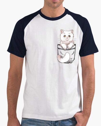 Lindo Camiseta Gato Camisa De Persa Bolsillo Para Hombre Béisbol NOyPv8wmn0