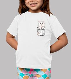 gato persa lindo de bolsillo - camisa para niños