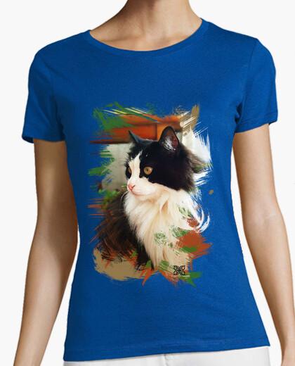 Camiseta Gato pinceladas