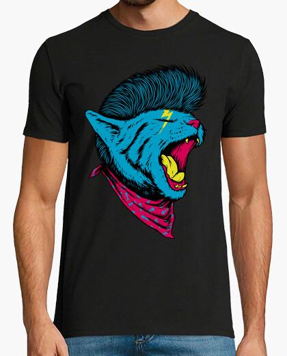 Camiseta gato punk