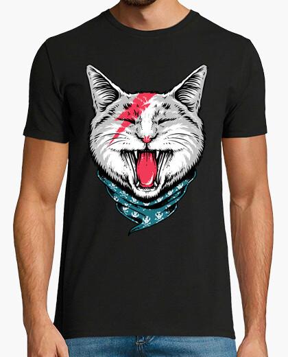 Camiseta gato roca