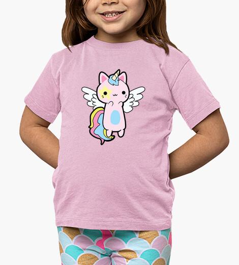Ropa infantil Gato Unicornio Rosa Kawaii