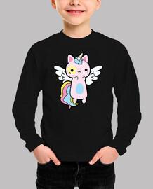 Gato Unicornio Rosa Kawaii