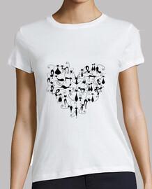 Gatos corazón blanco C