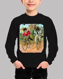 Gatos en bicicleta