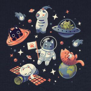 Camisetas Gatos en el Espacio