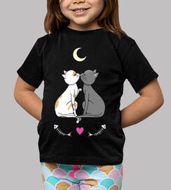 Gatos enamorados kawaii