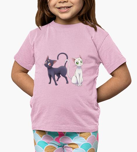 Ropa infantil Gatos Sailoor Moon - Camiseta de niña