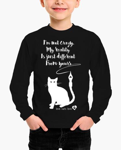Ropa infantil gatos yo no estoy loco amor gatos amor