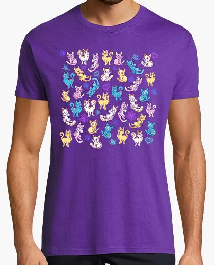 new styles 517a8 ef825 T-shirt gatti colorati camicia da uomo