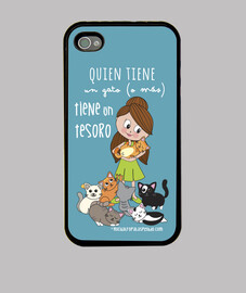 gatti treasure ragazza - funda iphone 4 / 4s