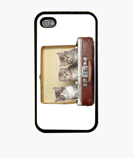 Cover iPhone gattini in valigia
