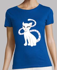 gatto bianco cartone animato carino gat