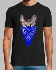 gatto gangster (bandana blu)