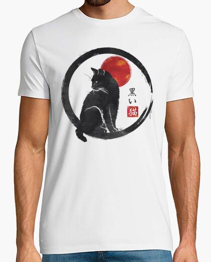 T-shirt gatto nero