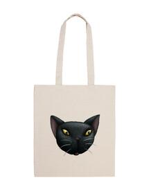 gatto nero volto tote