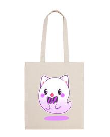 gatto o fan tasma kawaii