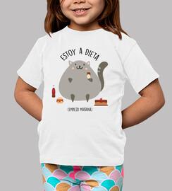 gatto su una dieta