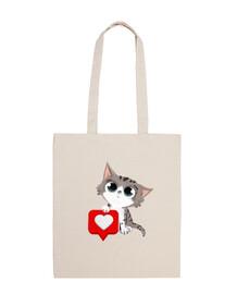 gattoto con il cuore