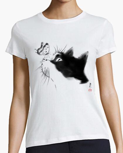 T-shirt gattoto curioso