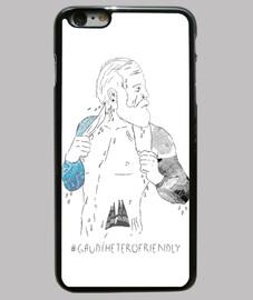 gaudí heterofriendly - cover iphone 6 plus, nera