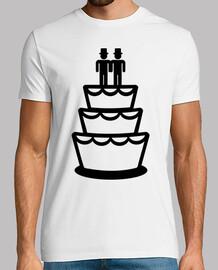 gay gâteau de mariage