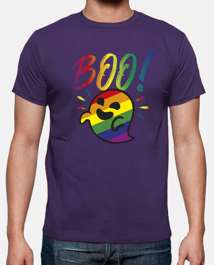 gaysper ghost. man, short sleeves, purple, extra quality