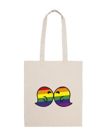 gaysper kiss 100% cotton fabric bag