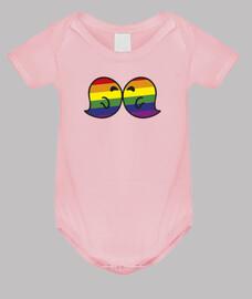 Gaysper Kiss. Body bebé, rosa claro