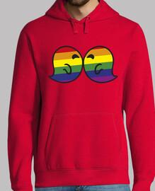 Gaysper Kiss. Hombre, jersey con capucha, rojo