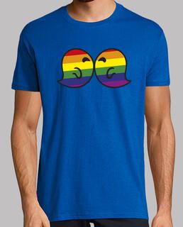 Gaysper Kiss. Hombre, manga corta, amarillo limón, calidad extra