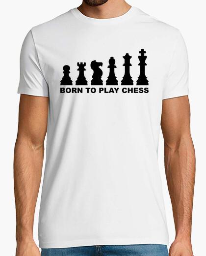 T-Shirt geboren, um schach evolution zu spielen