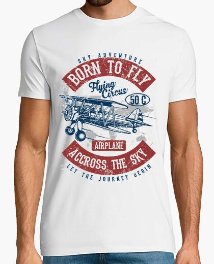 T-Shirt geboren zu fliegen