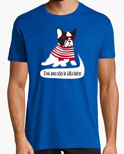 Camiseta Geek bulldog hipster