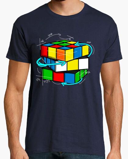 T-shirt geek matematico rubik