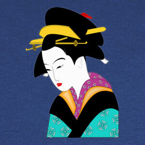 Tee-shirts geisha de color