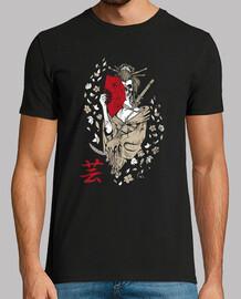 geisha girl t-shirt japanese girl t-shirt mask skull of death