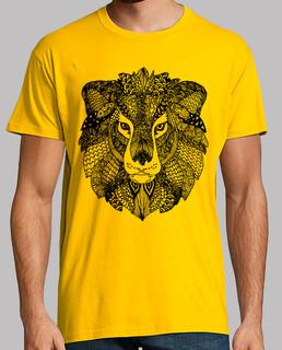 gelber könig der löwen zentangle