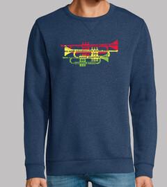 generi jazz con t-shirt di trombe