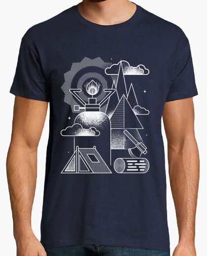 T-shirt geometrico-camping