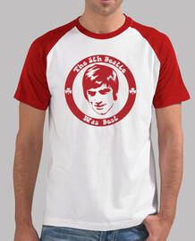 george best,Hombre, estilo béisbol, blanca y roja