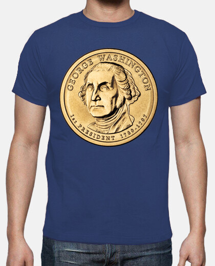 Camisetas George Washington coin