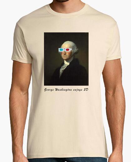 Camiseta George Washington enjoys 3D Street Art b