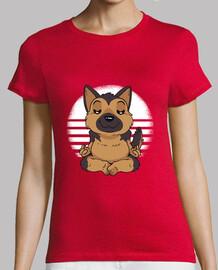 german shepherd yoga t-shirt