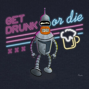 Camisetas Get Drunk or Die