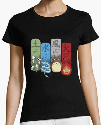 Camiseta Ghibli Elemental Charms